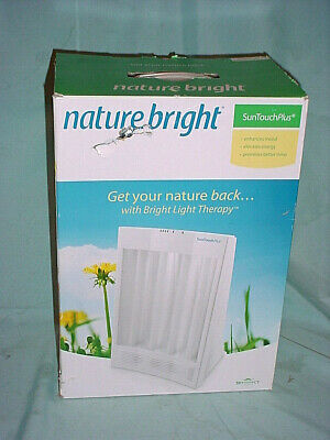 NIB Winter Depression NatureBright SunTouch Plus Light and Ion Therapy SAD Lamp