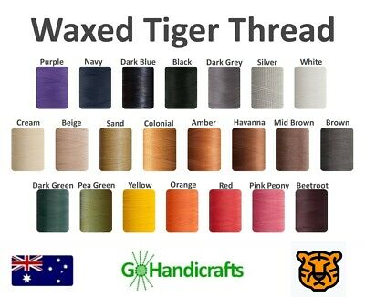 Julius Koch Waxed Tiger Thread Hand Sewing Stitched Leather Craft Work Repair