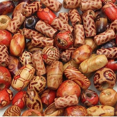 100Pcs 2-5mm Mixed Wood Round Beads for Jewelry Making Loose Spacer Charms NEW