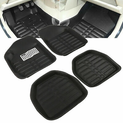 5pcs Car Universal Auto Floor Mats FloorLiner Front&Rear Carpet All Weather Mat