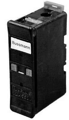 2x Bussmann NSD TYPE FUSE HOLDERS BUS32NNSBS 1-Pole 32A Back Stud Mount, Black