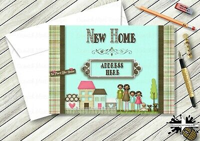 Personalised New Home Card Good luck in new home card 12.5x12.5cm CHSH4
