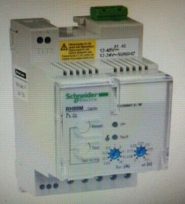 Schneider EARTH-LEAKAGE RELAY 12-24VAC & 12-48VDC With Manual Reset Type RH99M