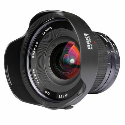 Meike 12mm F/2.8 Ultra Wide Angle Manual Foucs Prime Lens For Sony E-Mount APS-C