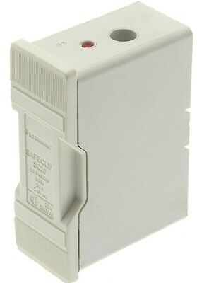 Bussmann FUSE HOLDER 75.5x54x26.5mm 20A 415V Front Wired, Safe Clip, White