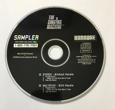 The Singing Machine Sampler Karaoke CD - Kryptonite Music Graphics