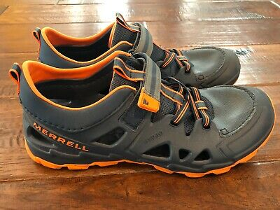 2a1ac5b88d78 MERRELL HYDRO WATER Sandals Shoes Boys Size 13 VGUC Grey Blue Orange ...