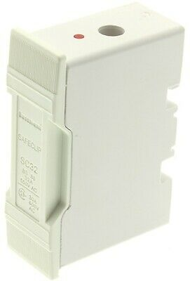 Bussmann SAFECLIP FUSE HOLDER 32A 415V White- Front Wired Or Back Stud