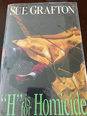 """Sue Grafton, SIGNED FIRST EDITION, """"H Is For Homicide"""", Autographed, New!"""