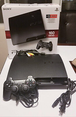 PLAYSTATION 3 160GB SLIM SYSTEM, 1 Controller, cords - PS3 CECH-2501A or 3001A