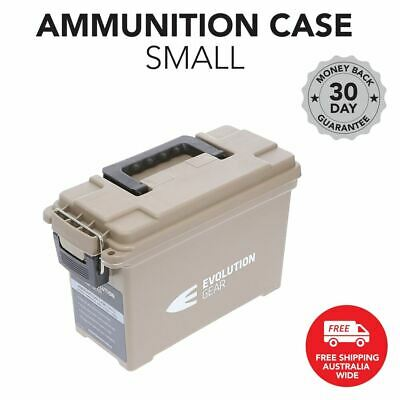 Small Ammunition Case Weatherproof Ammo Dry Box Hunting Sealed Desert Tan