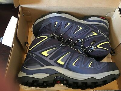 6eccf61dc9 SALOMON MEN'S X Ultra 3 Wide Mid GTX W Trail Running Shoe USA 8EE EUR 40