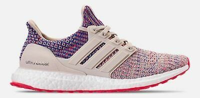 874ae1567db2d ADIDAS ULTRABOOST 4.0 RUNNING WOMEN s CLEAR BROWN - SHOCK RED - ACTIVE BLUE  NEW