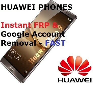 FAST Remote FRP/Google Account Bypass Removal Huawei Nova,P8,P9,P10,Honor 7,8,9