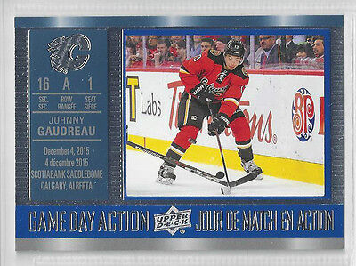 16-17 Tim Horton's GAME DAY ACTION - Johnny Gaudreau (GDA-3)