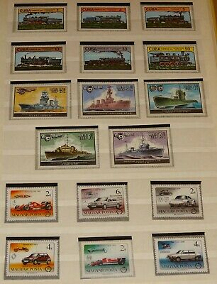 Worldwide Stamps Transportation Collection Complete Sets Mnh