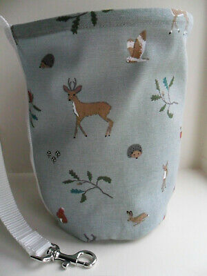 Hanging Clothes Peg Bag Laundry Pot Handmade, Sophie Allport Woodland Fabric