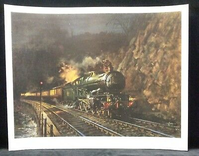 Night Express by Terence Cuneo,Limited edition,Signed,Print