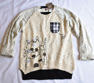 Next Girl's 7-8 Years Old Cat Oat Mill Sweater Jumper Bnwt