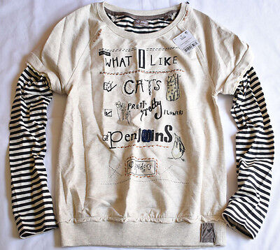 Next Girl's 12 Years Old 'What I Like' Oat Mill Sweater Jumper Bnwt