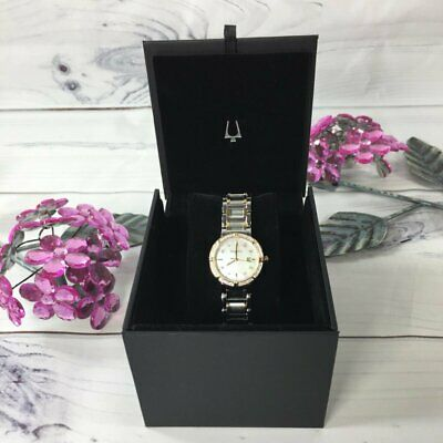 Bulova 98r260 Women's Quartz Diamond Accent Two-tone Watch (NWOT)