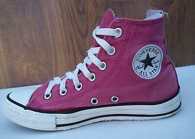 CONVERSE All Star Chuck Taylor Pink Hi Top Trainers Size UK 2
