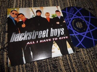 Backstreet Boys All I Have To Give Cd Single 1998 Promo