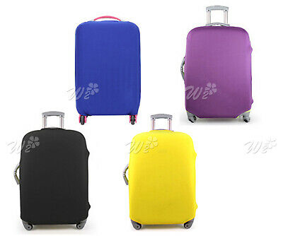 Yellow Elastic Luggage Suitcase Cover Protective Bag Dustproof Protector L Size