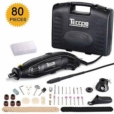 TECCPO Rotary Tool 170W/1.5A 8,000-35,000RMP Variable Speed with Flex Shaft,