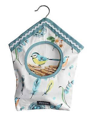 Vintage Songbird Retro Style Premium Quality Cotton Peg Bag with Clothes Pegs