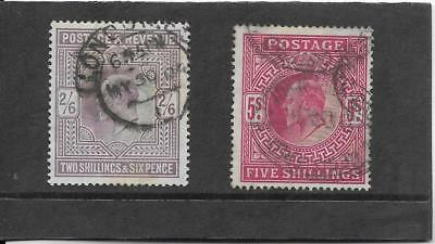 Gb. 1902 - 1910. 2/6, 5/-, Good To Fine Used. Sg. 260, 263.  (76)