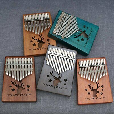 17 Key Kalimba Single Board Mahogany Thumb Piano Mbira Keyboard Instrument Tool