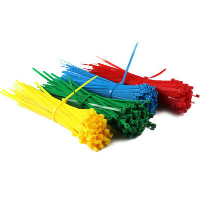 100pcs Cable Ties Self Locking Zip Tie Cable Winder Clips Wire Binding Straps