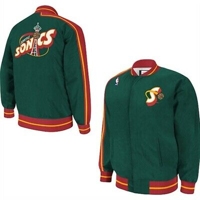 NBA Seattle SuperSonics Veste Warmup Homme XL Hardwood Neuf Vert