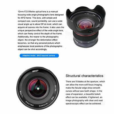 Meike 12mm F/2.8 Ultra Wide Angle Manual Foucs Prime Lens For Panasonic/Olympus