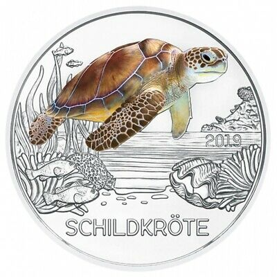 Autriche Austria 2019 - 3 Euro Colorful - Turtle / Tortue  -  UNC
