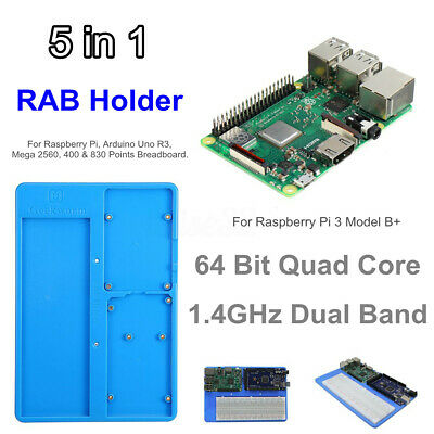 64 Bit Quad Core 1.4GHz Dual Band Card + 5 in 1 RAB Holder Breadboard For RPI