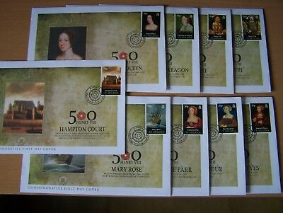 ST HELENA,2009,KING HENRY V111,9 DIFFERENT FDCs,CAT  £22.50,EXCELLENT.