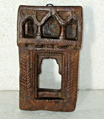 Vintage Indian Wall Hanging Wooden Carved Frame Mughal Style 005