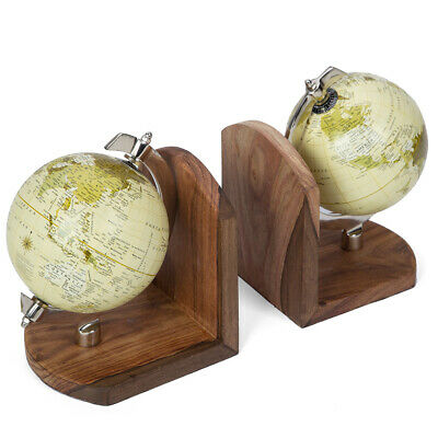NEW Searles Global Book Ends Set 2pce