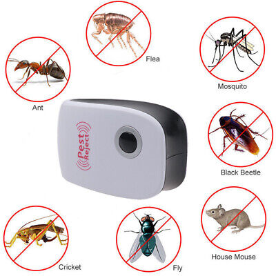 1/2/3/4/5/10 Pack Ultrasonic Pest Control Repeller Reject Rat Mouse Mice Spiders