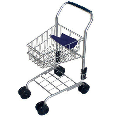 Kids Shopping Trolley Blue Handle Pretend Play Kitchen Toy