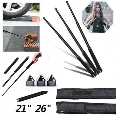 """Self Protect Retractable Stick Gifts Protector Outdoor Tool Telescopic 21"""" 26"""""""