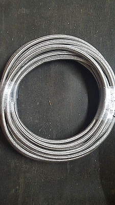 Braided Stainless Steel Fuel Pipe Hose 10Mm 3/8 Rubber Lined Nitrile Petrol