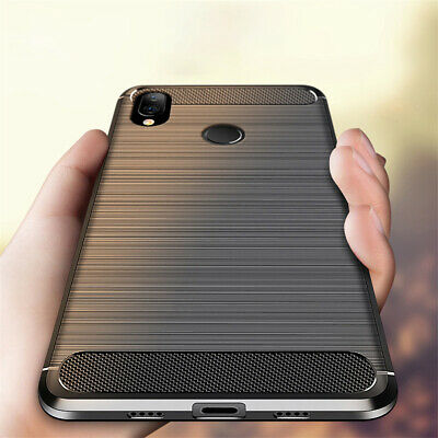 For Xiaomi Redmi 7 7A Note 8 7 6 Pro Shockproof Carbon Fiber Soft TPU Case Cover