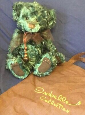 """Isabelle Lee Collection Mohair Teddy """" Fiddlestick """" By Charlie Bears +Carry Bag"""