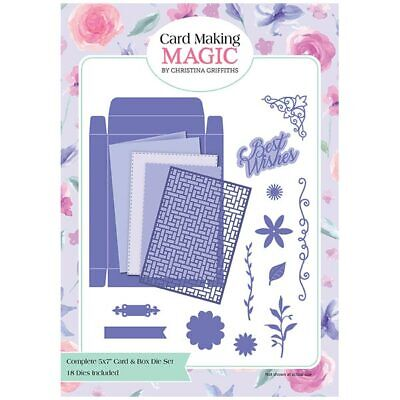 Card Making Magic Die Set Complete 5in x 7in Card & Box Set of 18