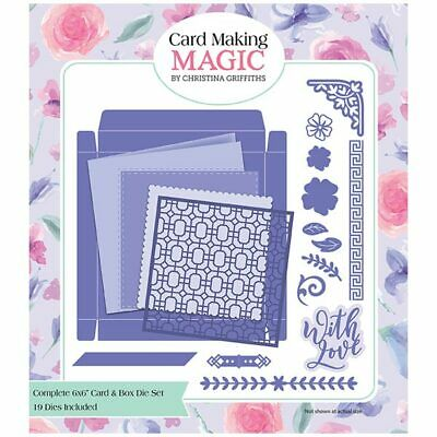Card Making Magic Die Set Complete 6in x 6in Card & Box Set of 19