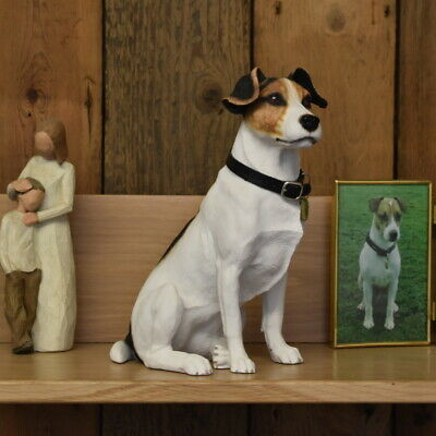 Jack Russell Dog Urn pet memorial casket will hold all the ashes