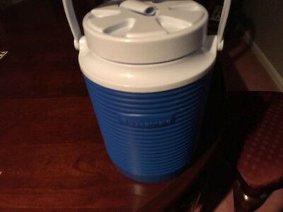 2b2134a23a Water Jug Insulated Thermal Drink Coolers Leak Resistant Lid Modern Blue 1  Gal